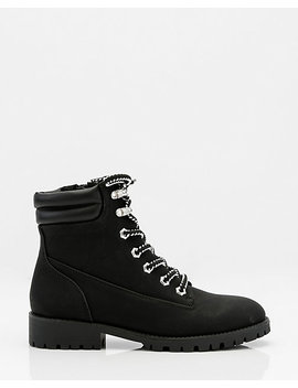 Round Toe Lace Up Hiking Boot by Le Chateau
