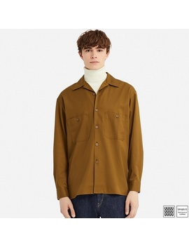 Open Color Shirt (Long Sleeve) by Uniqlo