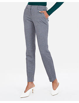 Mid Rise Micro Diamond Knit Columnist Ankle Pant by Express