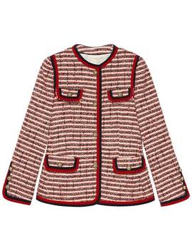 Striped Tweed Jacket by Gucci