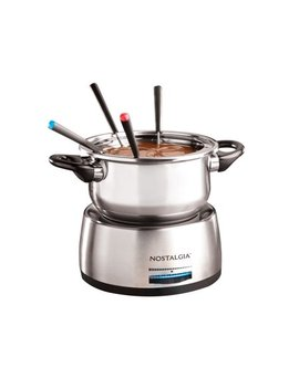 Nostalgia Fps200 6 Cup Stainless Steel Electric Fondue Pot by Nostalgia