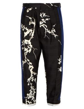 Tapered Floral Jacquard Trousers by Haider Ackermann