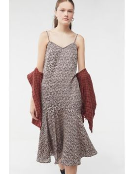 Uo Gianna Leopard Print Ruffle Midi Dress by Urban Outfitters