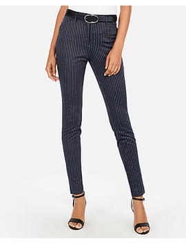 High Waisted Hazy Stripe Skinny Pant by Express