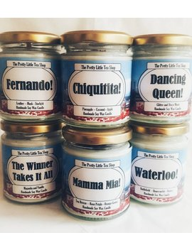 Mamma Mia Inspired Candles   Unique Gift   Vegan Soy Wax   Abba   Character Candles   Song Candles by Etsy