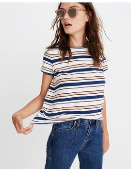 Whisper Cotton Ringer Tee In Victor Stripe by Madewell