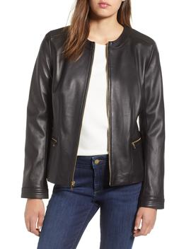 Smooth Lambskin Leather Jacket by Cole Haan