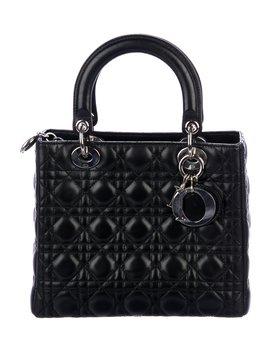 Medium Lady Dior Bag W/ Strap by Christian Dior
