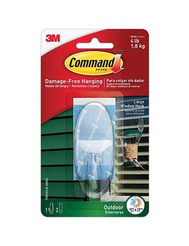 Command™ Outdoor Large Window Hook, Clear, Each (17093 Clraw) by Command
