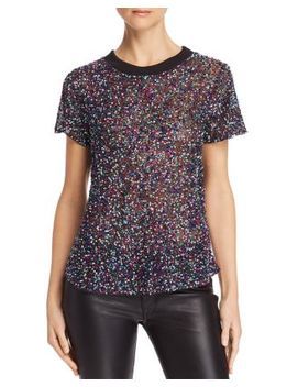 Anna Semi Sheer Embellished Top by Parker