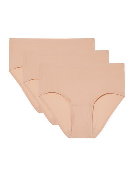Set Of Three Stretch Jersey Briefs by Chantelle
