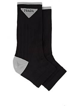 Compact Knit Open Toe Socks by Prada