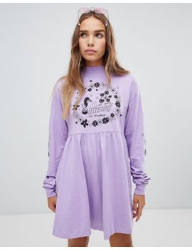 Lazy Oaf Not Working Long Sleeve Dress by Lazy Oaf