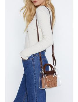 Want Inside Story Clear Bag by Nasty Gal