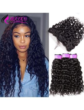 Mscoco Hair Water Wave Bundles With Frontal Brazilian Hair Weave 3 Bundles With Closure Human Hair Lace Frontal With Bundles by Mscoco