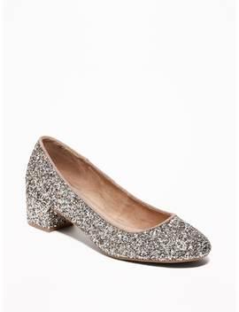 Glitter Block Heels For Women by Old Navy