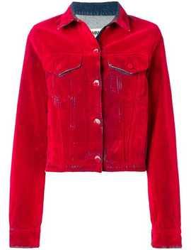 Cropped Denim Jacket by Mm6 Maison Margiela