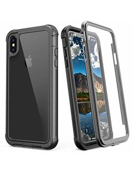 Justcool I Phone Xs Max Case, Clear Full Body Heavy Duty Protection With Built In Screen Protector Shockproof Rugged Cover For I Phone X  Max Case (2018) 6.5 Inch by Justcool