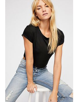 Cropped Baby Bamboo Tee by Free People
