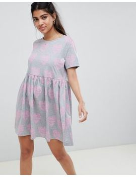 Asos Design Heart Slogan Smock Dress by Asos Design