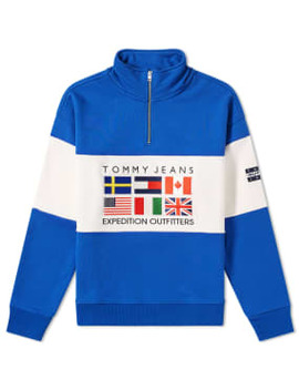 Tommy Jeans 6.0 Outdoors Half Zip Sweat M25 by Tommy Jeans