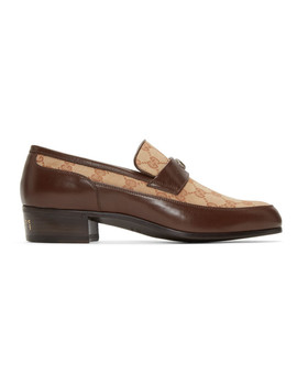 Beige High Loomis Loafers by Gucci