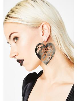 Say It Nicely Heart Earrings by Rat Baby