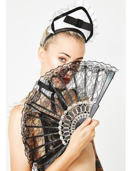 Naughty Nanny Lace Fan by Rubies Costume Co Inc