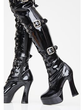 Made For Sin Thigh High Boots by Pleaser