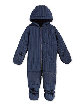 Baby Boys Hooded Footed Puffer Snowsuit, Created For Macy's by First Impressions