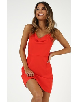Lover Red Dress In Red by Showpo Fashion