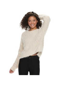 Juniors' Candie's® Chenille Eyelash Long Sleeve Top by Juniors' Candie's