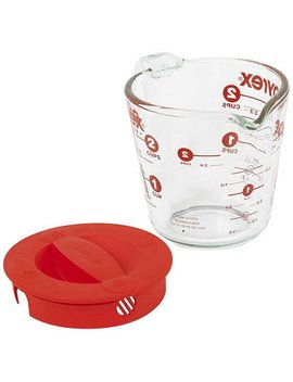 Pyrex Prepware 2 Cup Glass Measuring Cup With Lid by Pyrex