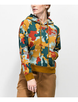 Obey Anna Drip Camo Hoodie by Obey