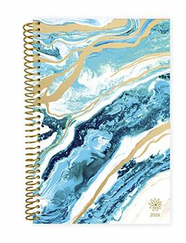 "Bloom Daily Planners 2019 Calendar Year Day Planner   Passion/Goal Organizer   Monthly And Weekly Dated Agenda Book   (January 2019   December 2019)   6"" X 8.25""   Geode by Bloom Daily Planners"
