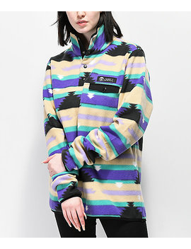Gnarly Vegabond Polar Print Fleece Sweatshirt by Gnarly