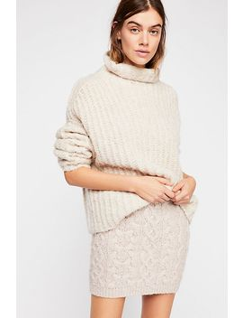 Cable Knit Mini Skirt by Free People