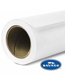 "Savage Seamless Background Paper   #01 Super White (26"" X 36') by Savage"