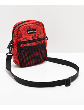 Bumbag Shaolin Classic Compact Red Shoulder Bag by The Bumbag Co