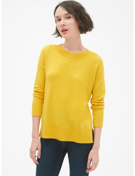 Pullover Crewneck Sweater Tunic In Wool Blend by Gap