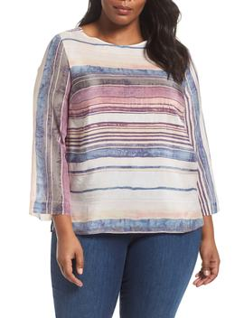 Fall Sunset Silk Blend Top by Nic+Zoe