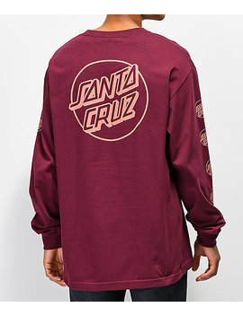 Santa Cruz Opus Repeat Burgundy Long Sleeve T Shirt by Santa Cruz Skate