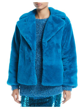Thora Faux Fur Oversized Coat by Alice + Olivia