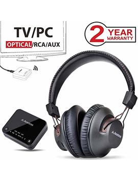 2018 Avantree Ht4189 Wireless Headphones For Tv Watching & Pc Gaming With Bluetooth Transmitter (Optical Digital Audio, 3.5mm Aux, Rca, Pc Usb), Plug & Play, No Delay, 100ft Long Range, 40hrs Battery by Avantree