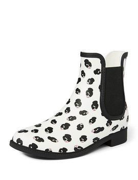 Rainely Rubber Gored Rain Boots by Alice + Olivia