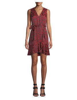 Brooks Short Leopard Print Fit Flare Dress by Alice + Olivia