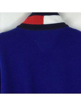 Tommy Hilfiger Men's Size Medium Blue Fleece Vintage Jacket 1/4 Zip Pullover by Tommy Hilfiger