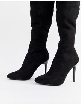 new-look-wide-fit-over-the-knee-stiletto-heel-boot by new-look