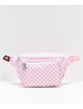 Dickies Pink Checkerboard Fanny Pack by Dickies