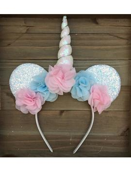 Icy Unicorn Mouse Ears Headband, Adult Mouse Ears, Minnie Ears, Minnie Mouse Ears, Disney Ears, Unicorn, Mouse Ears, Halloween, Frozen by Etsy